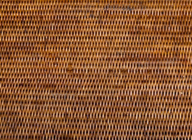 Handcraft weaving rattan basket trays. thai tradition bamboo nature textures background.