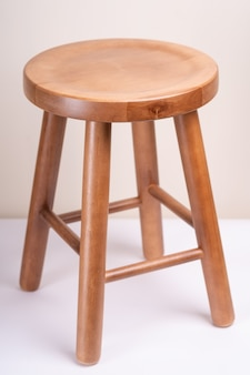 Handcrafted wooden backless stool