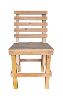 Handcrafted wooden chair simple design
