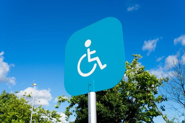 Handicap disabled sign for parking