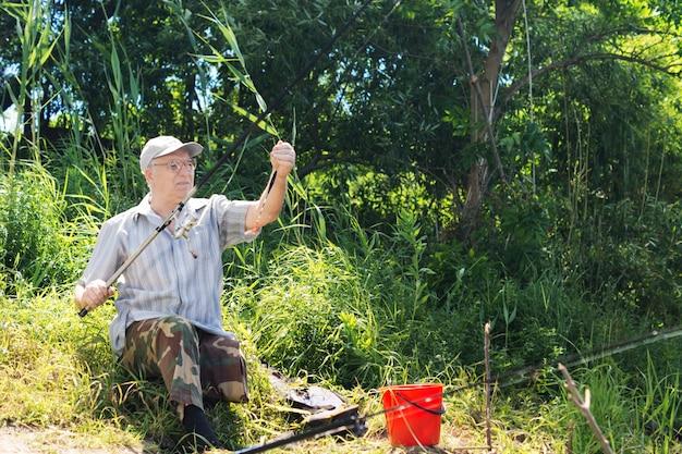 Handicapped angler enjoying a day fishing