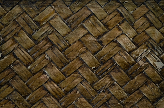 Handicrafts, patterned wooden floors with background blurred patterns