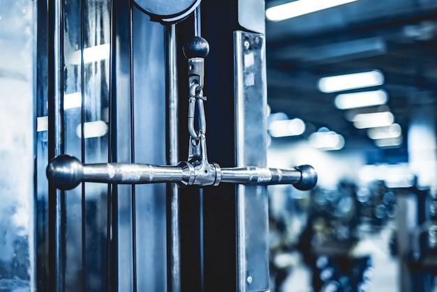 Handle of body-builder sport equipment