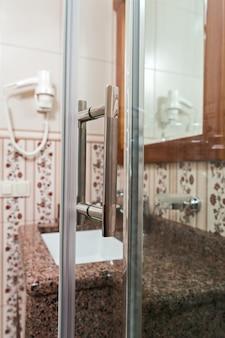 Handle shower in the bathroom