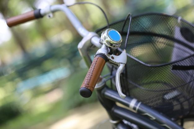 Handle of vintage bicycle