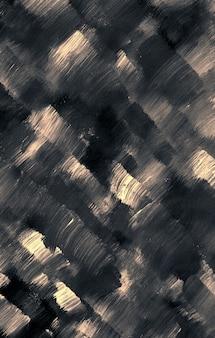 Ручная работа современного современного искусства черно-коричневая текстура оригинальной картины абстрактного фона