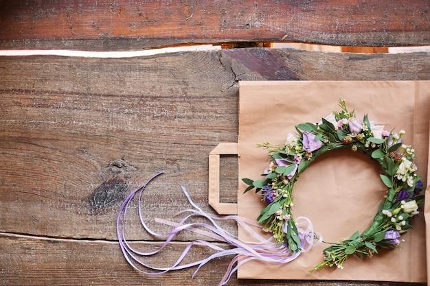 Handmade floral tiara made of flowers