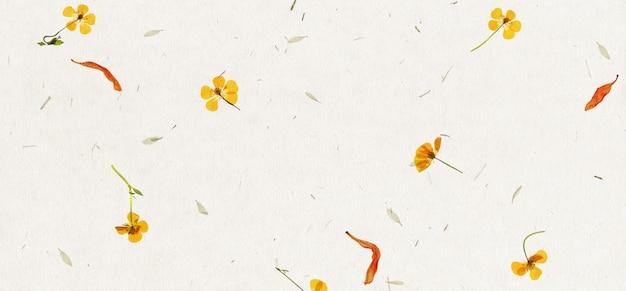 手作りの花びらの紙のテクスチャ背景。
