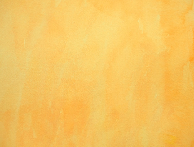 Handmade hand drawn pastel grunge yellow color watercolour texture background