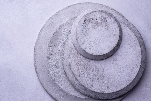 Handmade handcrafted concrete plates and bowls