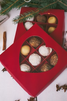 Handmade homemade sweets on a christmas.