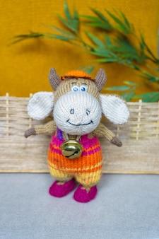 Handmade knitted children's toys, knitted hand made souvenir