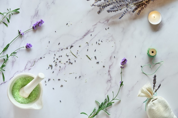 Handmade lavender bags and diy homemade sugar scrub.