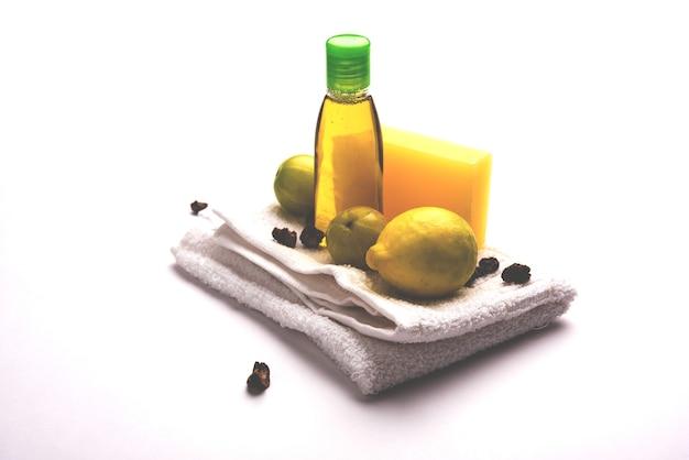 Лимонное мыло и шампунь ручной работы с амлой и ретой