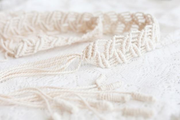 Платье-макраме ручной работы. натуральные хлопковые нити.