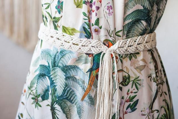 Handmade macrame dress belt.
