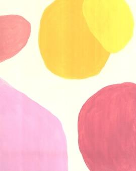 Handmade minimal artwork earth tone neutral midcentury geometric organic shapes art background