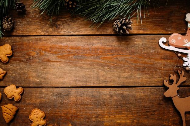 스케이트와 사슴의 수제 장식품, 진저 브레드 쿠키