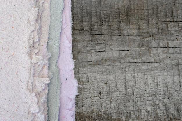 Handmade paper, sheet lies on a wooden table.