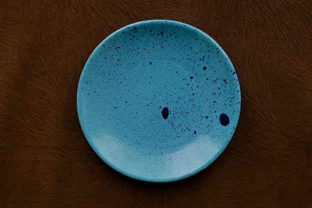 Handmade pottery saucer top view