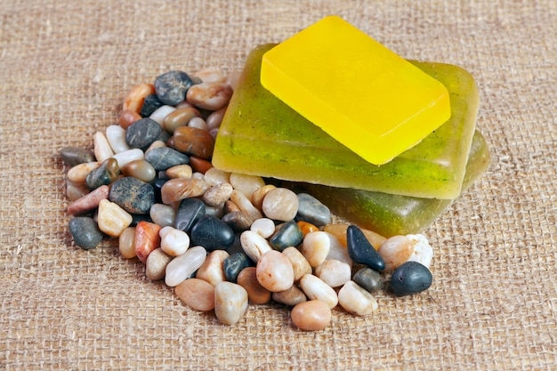 Handmade soap with herb