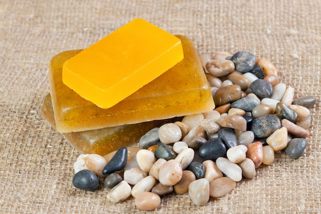 Handmade soap with herbs