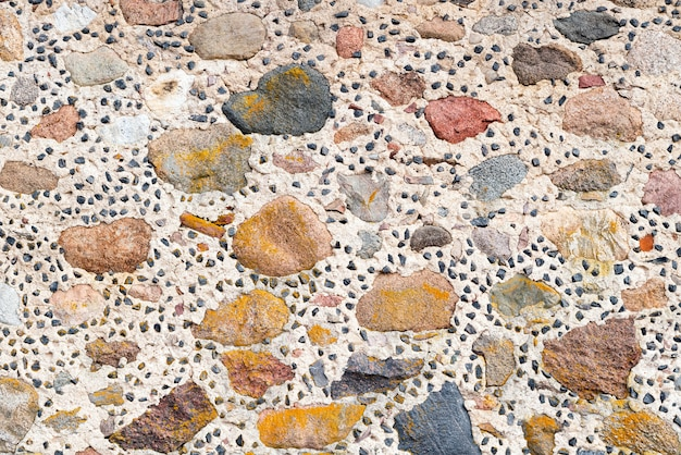 Handmade stone wall texture.