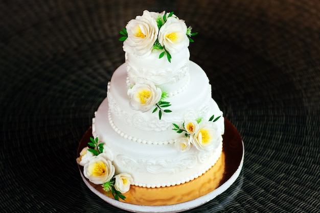 Handmade wedding cake.