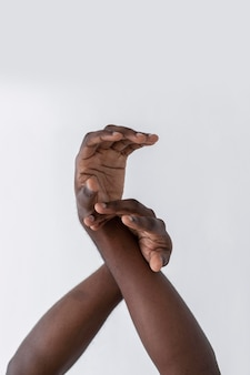 Hands of an american black person