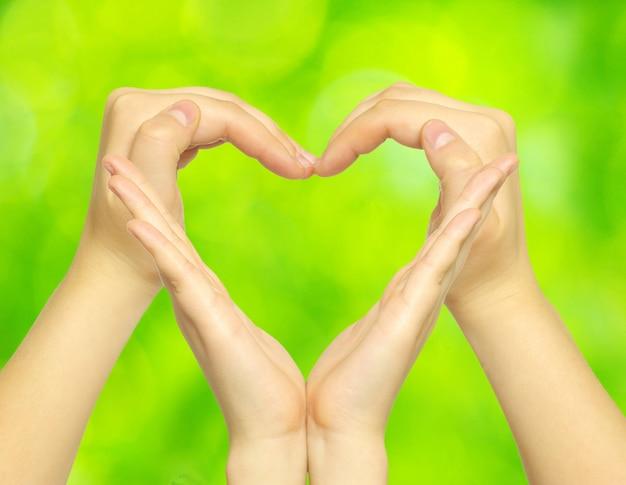 Hands doing a heart