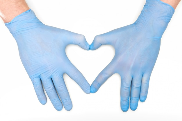 Руки в медицине латексные хирургические перчатки