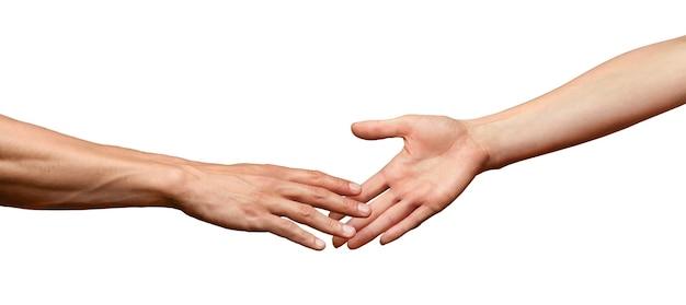 Руки протягиваются и касаются друг друга