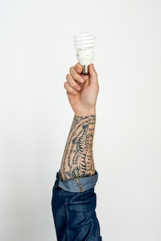 Hands show light bulb ideas