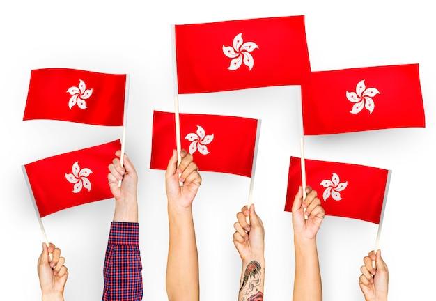 香港の手を振る手