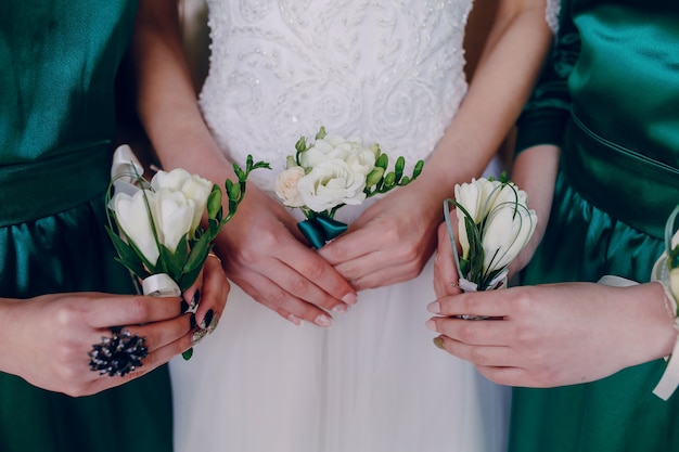 Hands with flowers