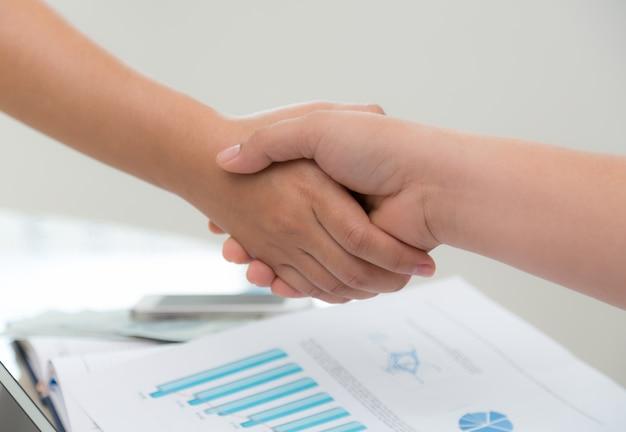 Handshake between colleagues