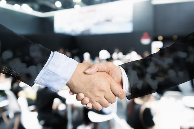 Handshake double exposure