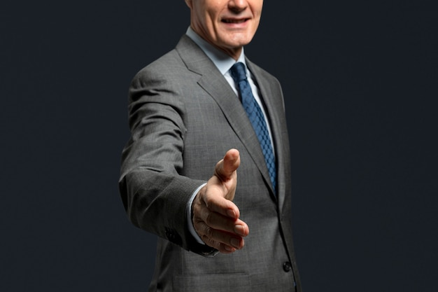 Handshake gesture for business agreement