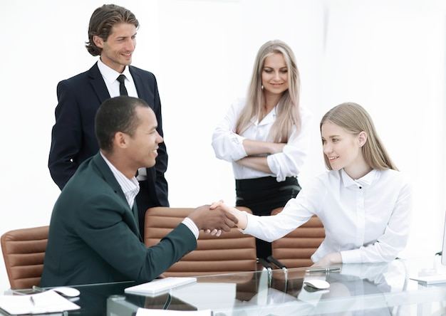 Handshake manager and the client in the office