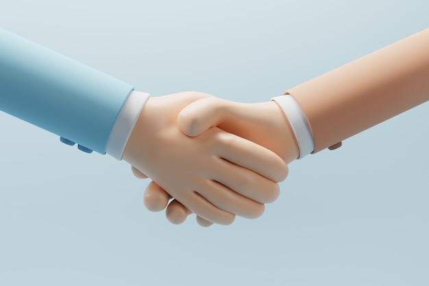 Рукопожатие деловых партнеров с успешной сделкой