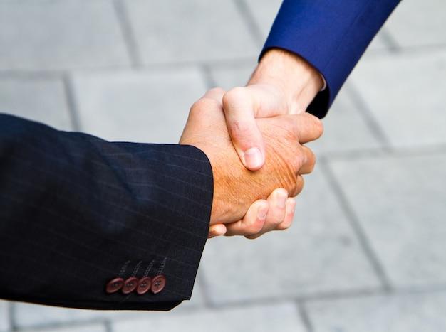 Handshake outdoors