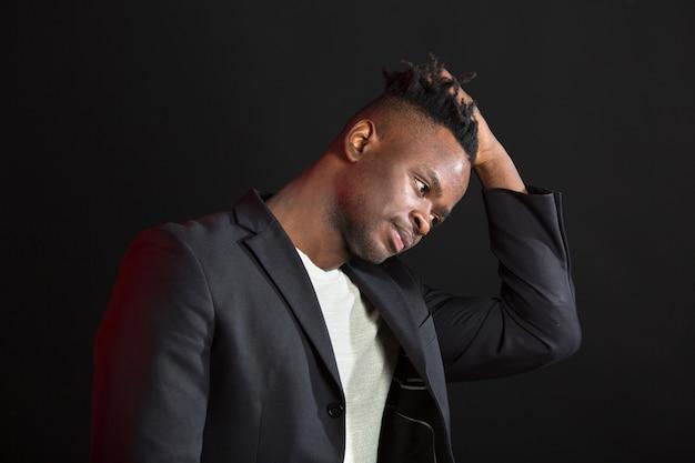 Handsome african man in suit