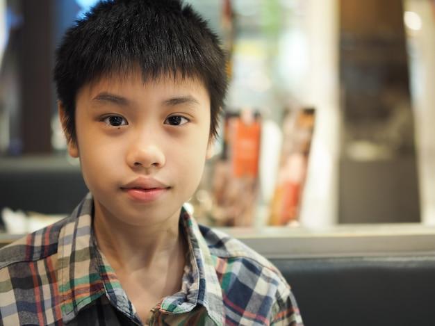 Handsome asian boy portrait