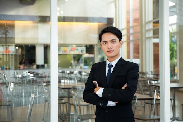 Handsome asian businessman.businessman use of cellphone