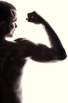 Handsome athlete. lifestyle concept