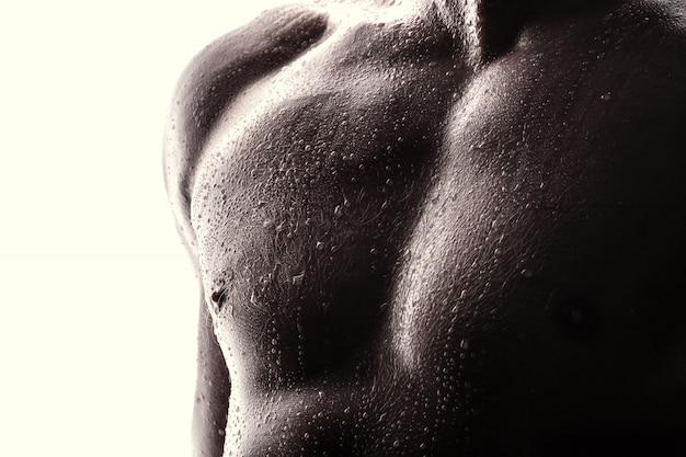 Handsome athlete. sport concept