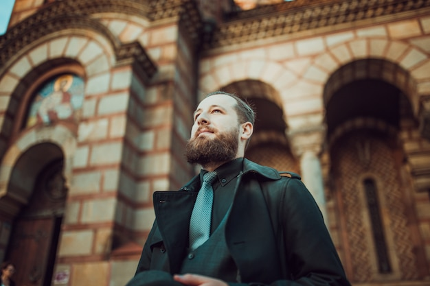 A man visiting a monastery | Photo: Freepik