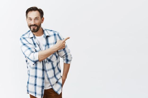 Handsome bearded mature man posing