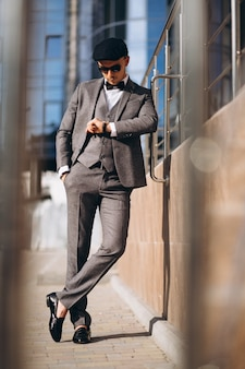 Handsome business man in suit