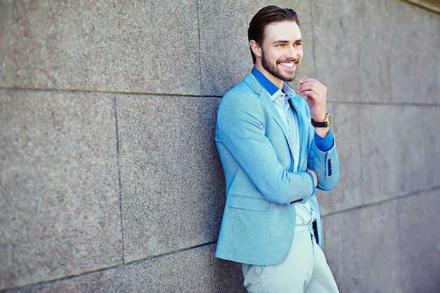 Handsome businessman man in the street